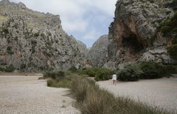 Torrent de Pareis in the spanish island of mallorca. 