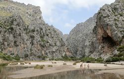 Torrent de Pareis in the spanish island of mallorca wide view. Torrent de Pareis in the spanish island of Mallorca Stock Images