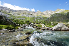 Torrent of high mountain Stock Photo