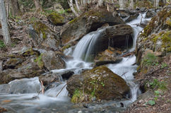 Torrent on the mountain slope Stock Photos