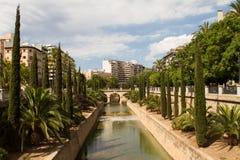 Torrente de la Riera, Passeig Mallorca Royalty Free Stock Images
