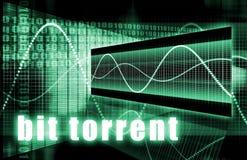 Torrente del dígito binario Imagenes de archivo