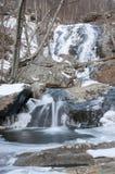 torrente montano congelata Fotografie Stock