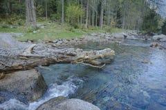 Torrente montano di Val Masino fotografie stock libere da diritti