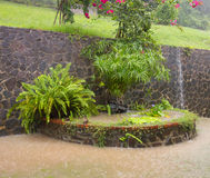 Torrential rainfall in the caribbean Stock Photo