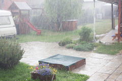 Torrential rains in the spring. Royalty Free Stock Images