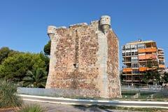 Torreon de San Vicente, Benicassim, Spanien arkivbild