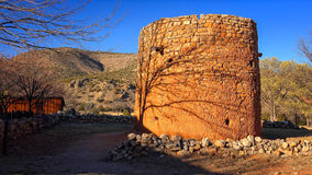The Torreon Rock Tower Fort in Lincoln, New Mexico Royalty Free Stock Image