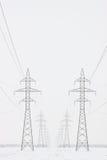 Torres al horizonte en invierno, cosecha vertical de la transmisión imágenes de archivo libres de regalías