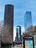 Torres altas residenciales modernas, Chicago Illinois fotos de archivo
