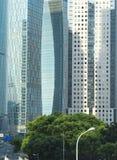 Torres comerciales en área financiera Imágenes de archivo libres de regalías