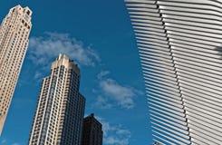 Torres con el museo del punto cero Imagen de archivo libre de regalías
