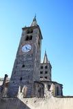 Torres da catedral de Aosta, Italy Fotos de Stock