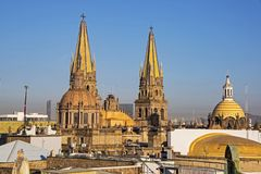 Torres da catedral de Guadalajara Imagem de Stock