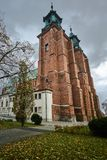 Torres da catedral gótico Fotografia de Stock Royalty Free