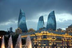 Torres da chama de Baku Imagens de Stock Royalty Free