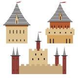 Torres da cidade medieval, Imagens de Stock
