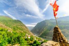 Torres da defesa da vila Soupo de Danba do tibetano imagens de stock royalty free