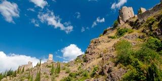 Torres da excursão Regine e da taberna do La de Quertinheux Imagem de Stock Royalty Free