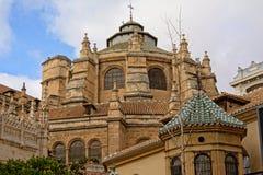 Torres da igreja de San Juan de Dios, Granada fotografia de stock royalty free