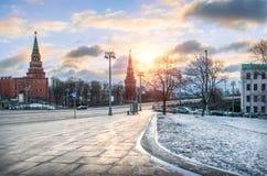 Torres da Moscovo Kremlin Imagem de Stock Royalty Free