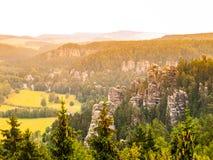 Torres da rocha de Adrspach Fotos de Stock