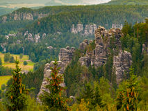 Torres da rocha de Adrspach Fotos de Stock Royalty Free