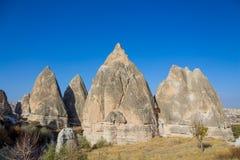 Torres da rocha de Cappadocia, Turquia Fotos de Stock