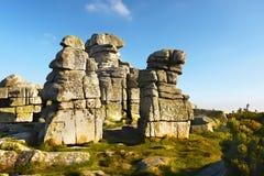 Torres da rocha no prado Fotos de Stock Royalty Free