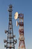 Torres das telecomunicações Fotografia de Stock Royalty Free