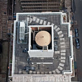 Torres de água do telhado em edifícios de NYC Foto de Stock