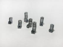 Torres de aço, construídas de arruelas lisas Imagens de Stock Royalty Free