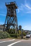 Torres de agua de madera en Mendocino, California imágenes de archivo libres de regalías