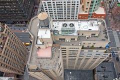 Torres de agua del tejado en edificios de NYC foto de archivo libre de regalías