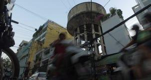 Torres de agua viejas en la vieja parte de Ho Chi Minh, Vietnam