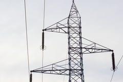 Torres de alta tensão Imagem de Stock