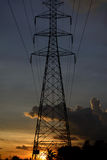 Torres de alto voltaje foto de archivo libre de regalías
