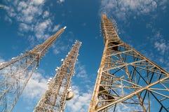 Torres de antena Imagenes de archivo