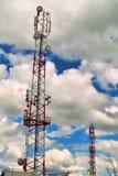 Torres de antena Foto de Stock