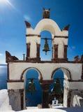 Torres de Bell de Oia Fotografia de Stock Royalty Free