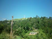 Torres de comunicação da cidade de Welimada Fotos de Stock Royalty Free