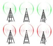 Torres de comunicação sem fio Foto de Stock