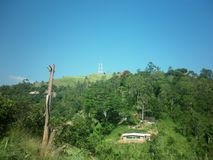Torres de comunicación de la ciudad de Welimada Fotos de archivo libres de regalías