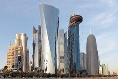 Torres de Doha Fotos de archivo libres de regalías