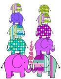 Torres de elefantes coloridos Imagem de Stock Royalty Free