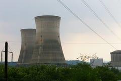 Torres de enfriamiento del cemento Imagen de archivo