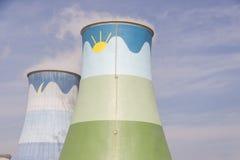 Torres de enfriamiento - Opole, Polonia Imagen de archivo