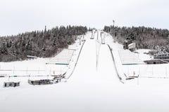 Torres de esquí-salto de Lillehammer Fotografía de archivo libre de regalías