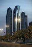 Torres de Etihad em Abu Dhabi Imagens de Stock Royalty Free