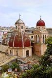 Torres de iglesia de Kerkia Foto de archivo